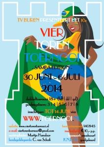 vier toren tennis toernooi buren 2014 samba wk edition